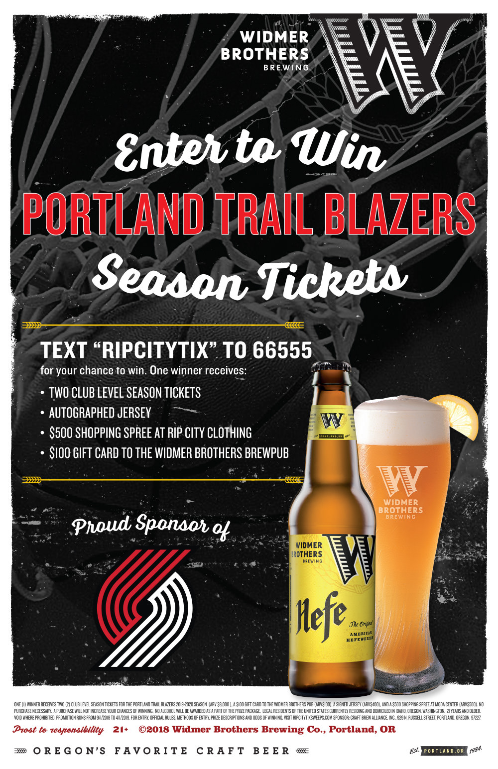 Widmer Brothers Brewery Sweepstakes | RIPCITY