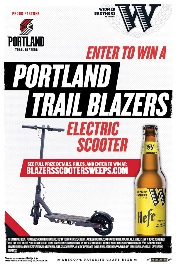 Widmer Brothers Brewery Sweepstakes | BLAZERSSCOOTER